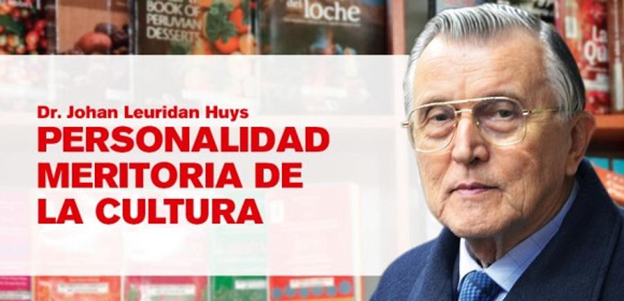 Johan Leuridan Huys recibe máxima distinción del Ministerio de Cultura
